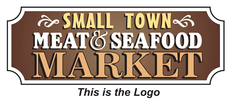 Small Town Meat and Seafood Market Sign